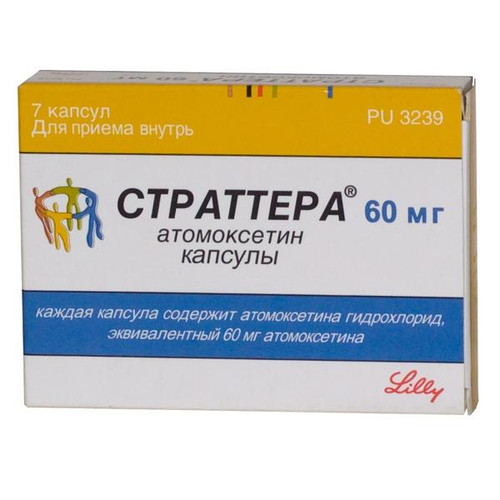 STRATTERA® (Atomoxetine) 7 caps/pack, 40 mg/cap
