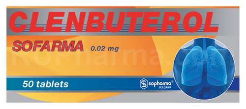 CLENBUTEROL® (Dilaterol), 50 tabs/pack, 0.02 mg/tab