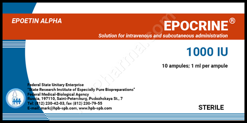 EPOCRIN® (Epoetin Alpha), 10 amps, 1000-10000 IU/amp