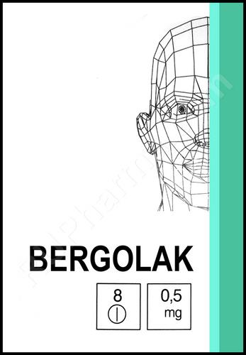 BERGOLAC® (Cabergoline) 8 tabs/pack, 0.5 mg/tab