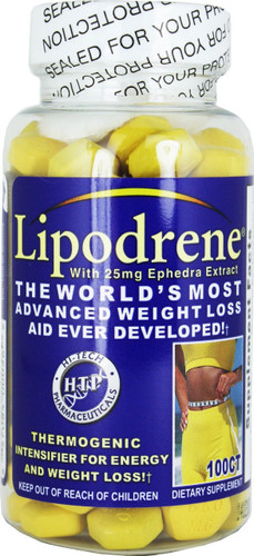 LIPODRENE® (advanced fat loss) 100 tabs/pack, 25 mg/tab