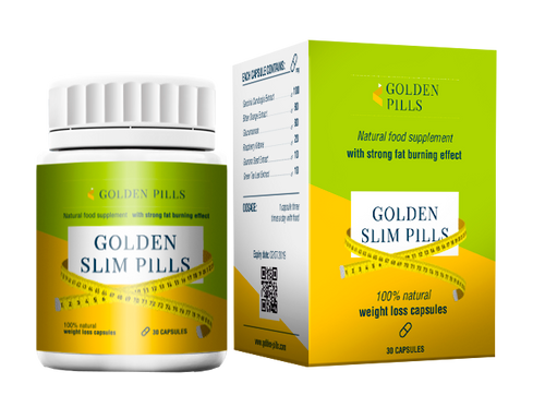 Golden Slim Pills (appetite and weight reduction), 30 caps