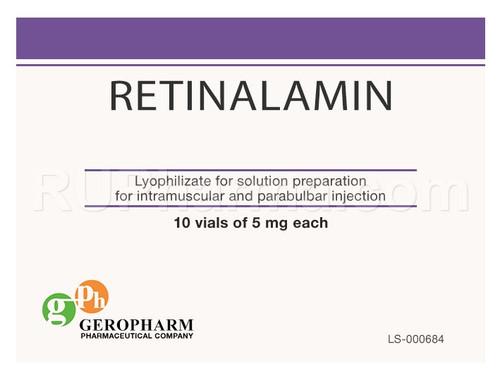 RETINALAMIN® (Retina Cell Activator) 10 flacons, 5 mg