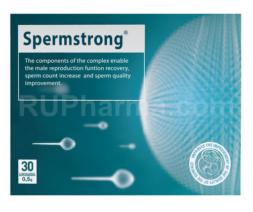 SPERMSTRONG® (Sperm Quality and Sperm Count Improvement), 500mg/cap, 30caps/pack