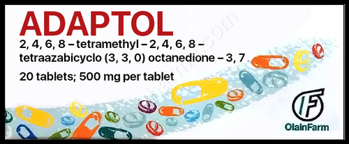 ADAPTOL®, (Mebicar, Mebicarum) 20 tabs/pack, 500 mg/tab