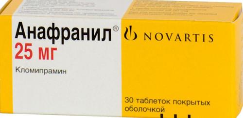 ANAFRANIL®, (Clomipramine) 30 tabs/pack, 25 mg/tab