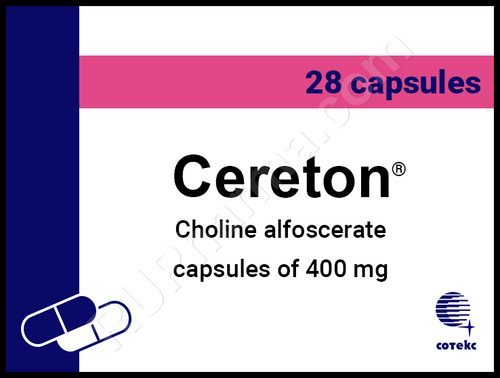 CERETON®, (Choline Alfoscerate, Alpha-GPC)  28pills/pack, 400mg/pill