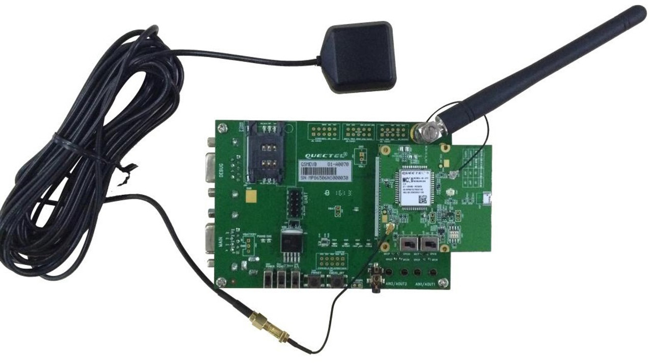 Quectel MC60-E GSM/GPRS/GNSS Bluetooth BT4 0 Evaluation Board (EVB) Kit