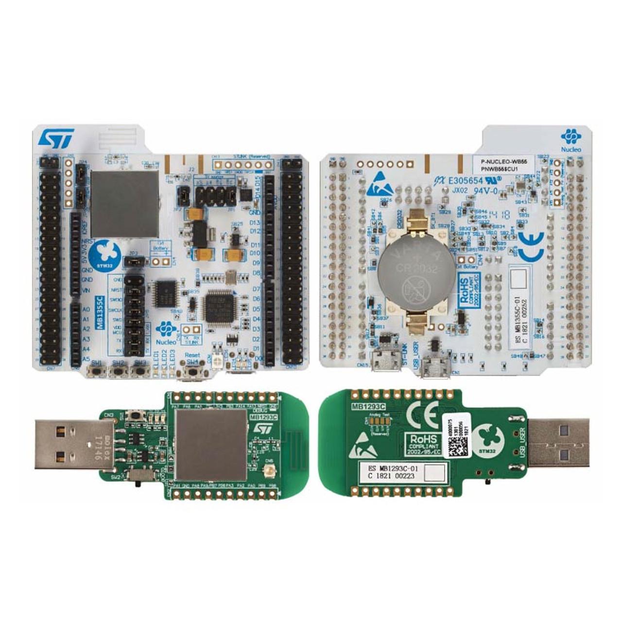 Bluetooth 5, 802 15 4 Nucleo Pack USB dongle Nucleo-68 STM32WB55 MCU RF  Evaluation Board