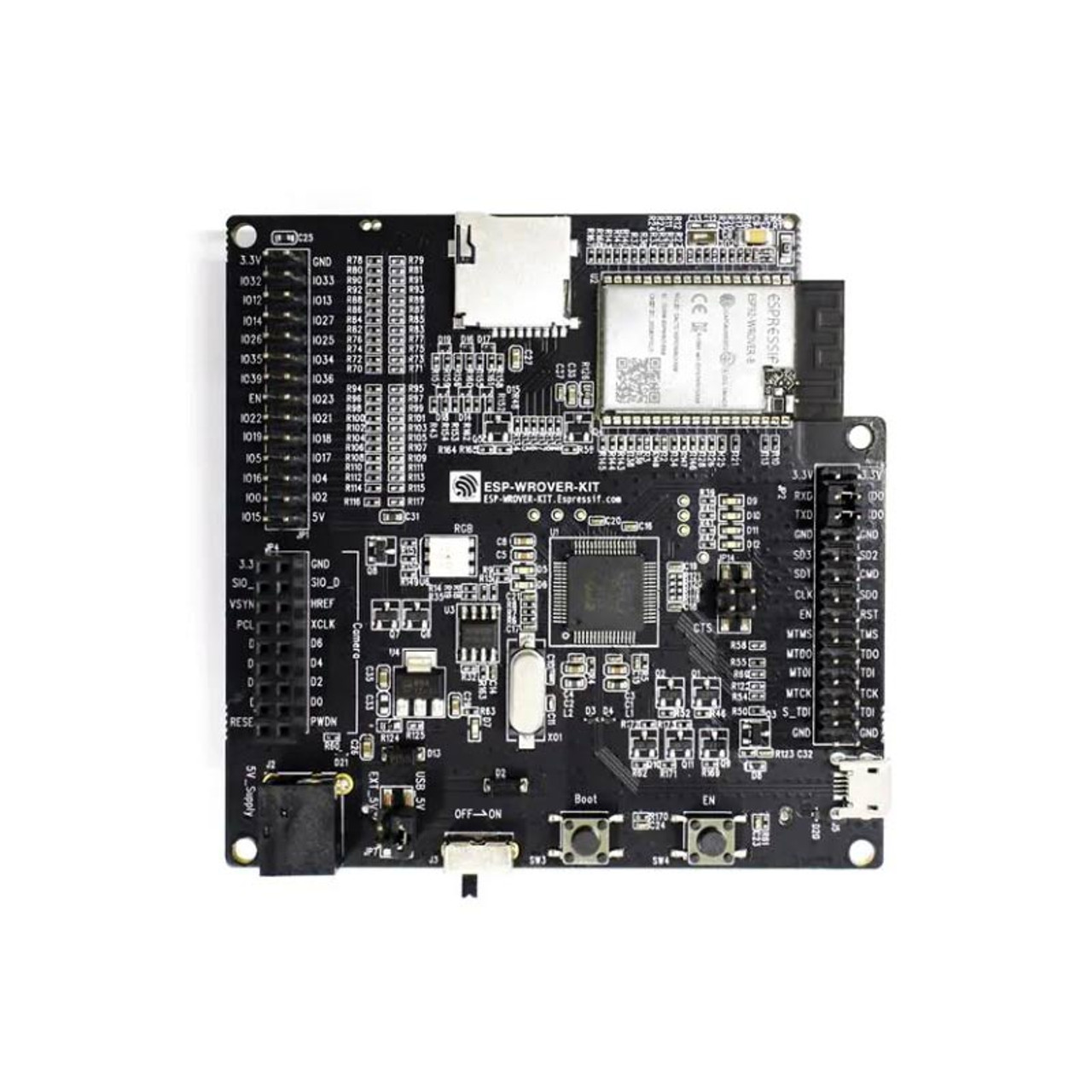 ESP32-WROVER-B Development Board, JTAG TFT Display Camera Supported