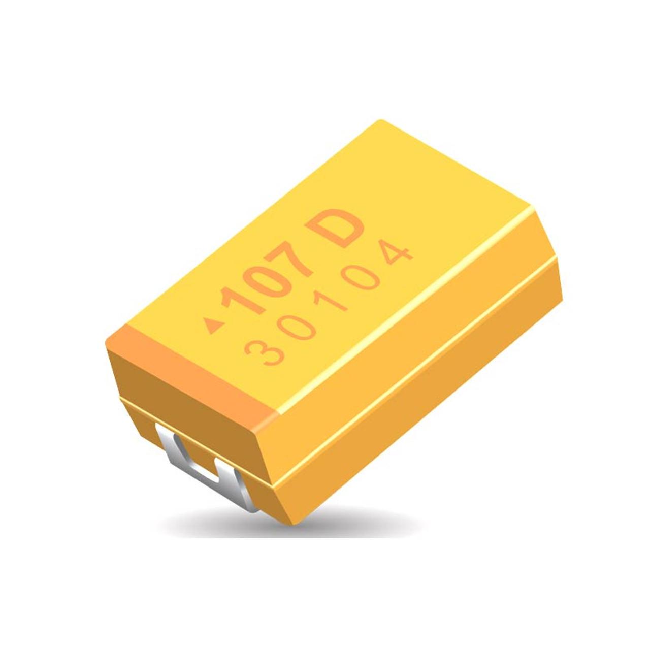 6.3 V 100uF TAJC 107K006RNJ AVX tantalio condensadores C-SMD Talla 2312 6032-28 5 un