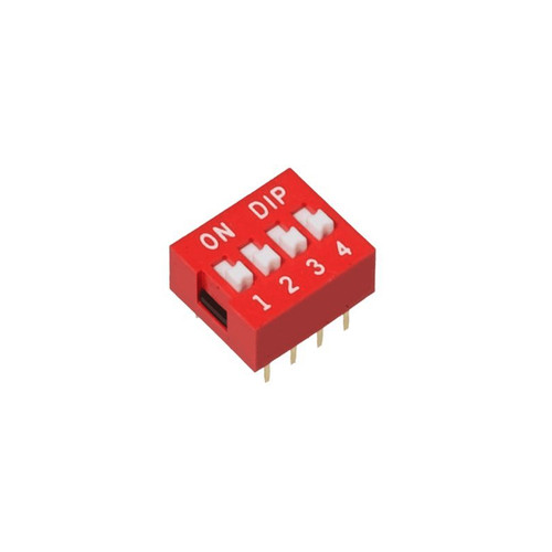 4 Way DIP Switch  24V 25mA SPST Through Hole