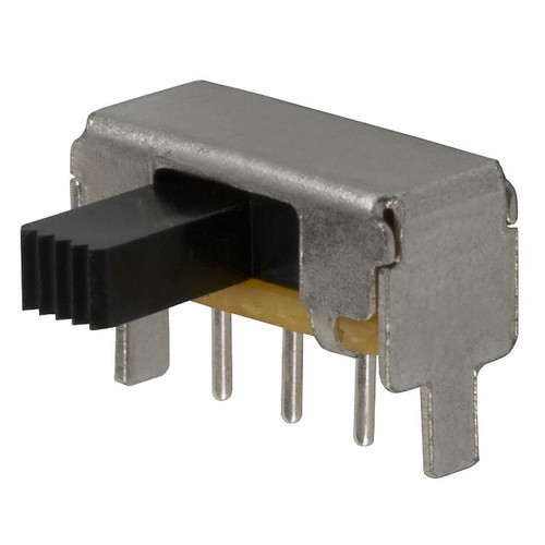 Slide Switch RA - PCB Mount (Pitch 0.1 inch) Right Angle