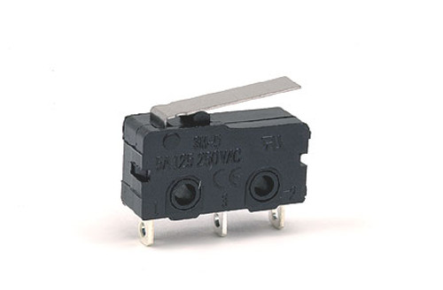 3-Pin SPDT Micro Switch Snap-Action Switch with Lever