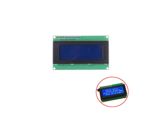 20x4 Character LCD Display (Blue)