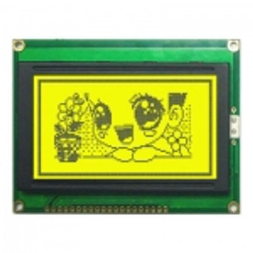 128x64 Graphic LCD Display - Yellow Green