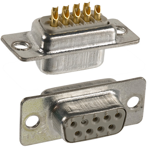 9Pin RS232 DB9 D-Subminiature Female Connector Straight PCB Mount