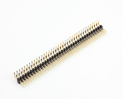 Berg Strip L Type Male Right Angle 2x40 (2.54 mm pitch)