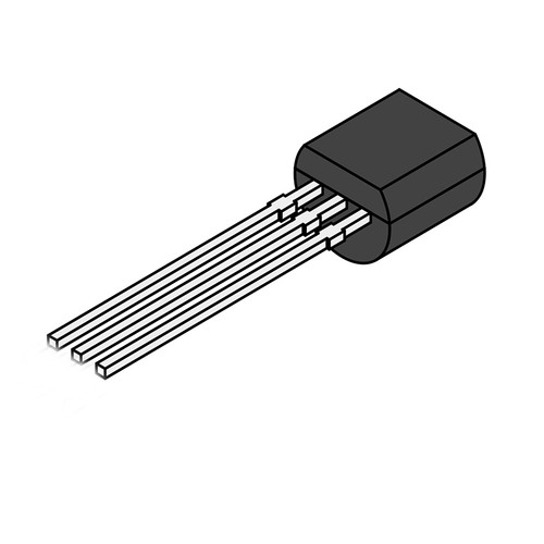 BC557 45V 100mA PNP Bipolar Transistor TO-92 3-Pin Through-hole
