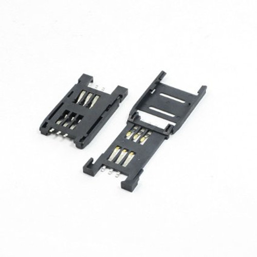SIM Socket 6 Pin Flap Type (Plastic)