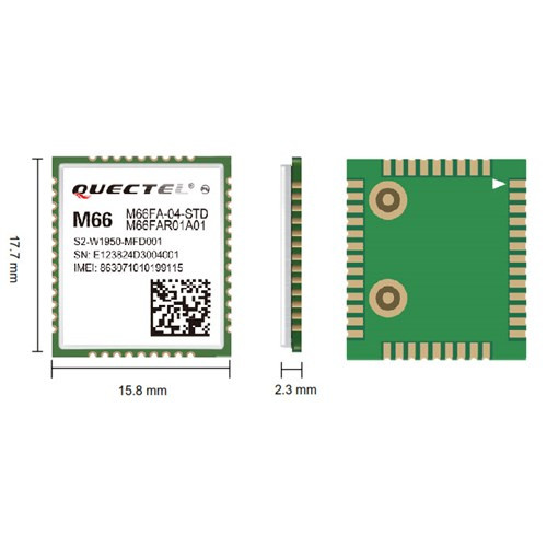 Quectel M66 R1.0 GSM/GPRS Module with Bluetooth and OpenCPU