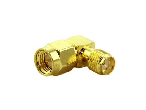 SMA adapter SMA Plug to SMA Jack (SMA Male to SMA Female Connector) - Right Angle