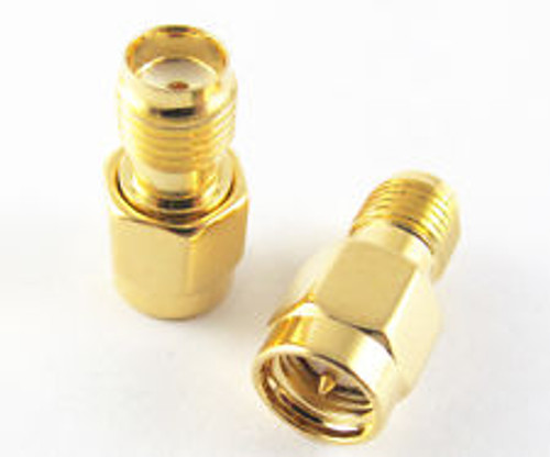 SMA Adapter SMA Plug to SMA Jack Straight (SMA Male to SMA Female Connector)