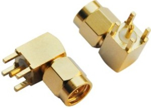SMA Connector Male - Right Angle (PCB Mount)