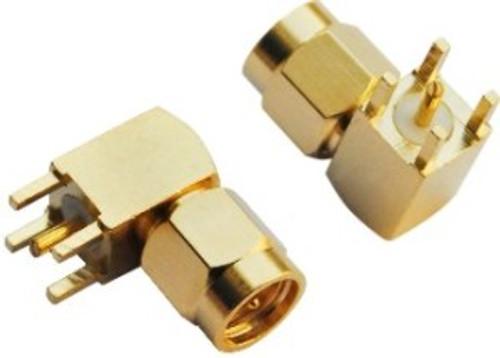 SMA Connector Male - Right Angle (PCB Mount)