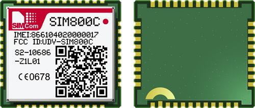 SIM800C Quad-band GSM/GPRS Module SMT Type