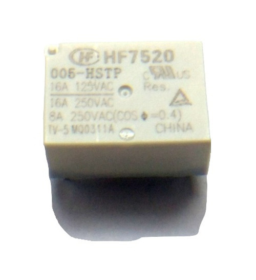 HF7520/005-HSTP, 16 Amp SPST 5 VDC Through Hole PCB Mount Subminiature Power Relay