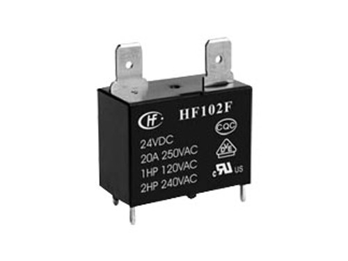HF102F/12VDC, Hongfa HF102F Series 20A SPST 12VDC PCB Mount Miniature High Power Relay