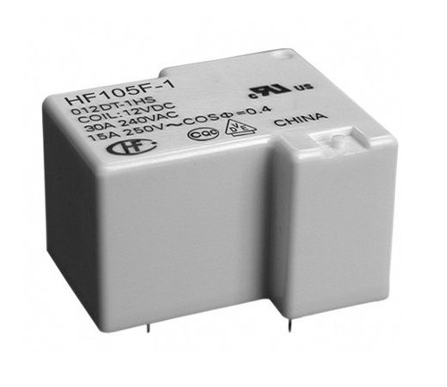HF105F-1/012DT-1HS, Hongfa HF105F-1 Series 30A SPST 12VDC Sealed Miniature High Power Relay