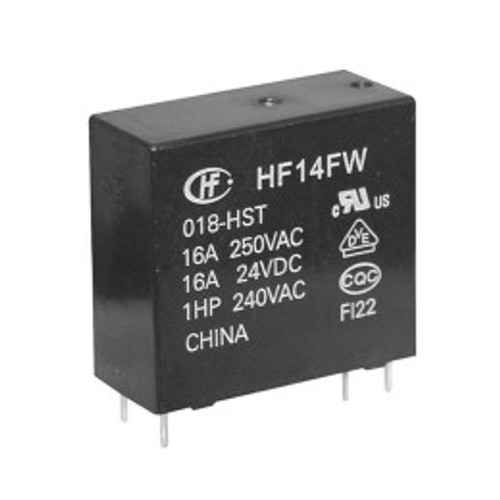 Hongfa HF14FW Series 16A SPST 12VDC PCB Mount Sealed Miniature High Power Relay