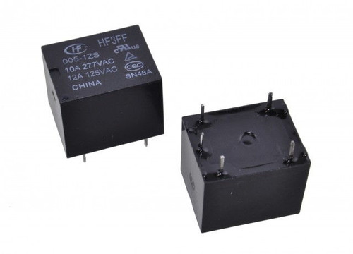 Hongfa HF3FF Series 10A SPDT 5VDC PCB Mount Sealed Subminiature High Power Relay