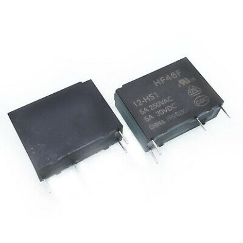 Hongfa HF46F-G Series 7A SPST 5V PCB Sealed Subminiature Intermediate Power Relay