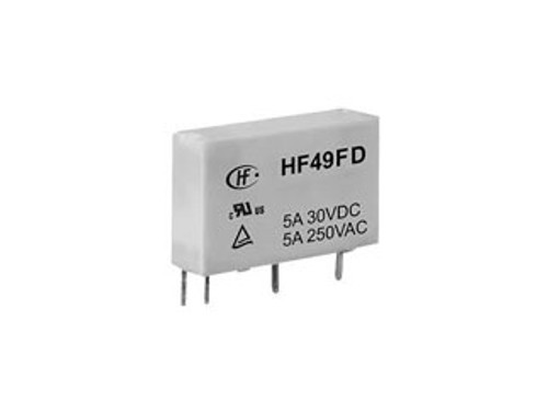Hongfa HF49FD Series 5A SPST 12V PCB Mount Miniature Power Relay