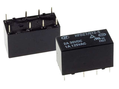 Hongfa HFD27 Series 2A DPDT 12V PCB Mount Sensitive Subminiature DIP Relay