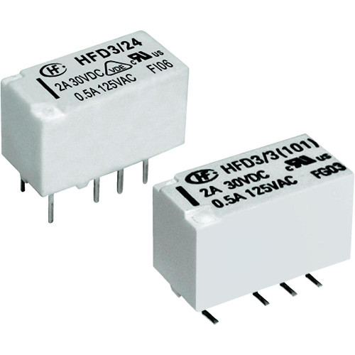 Hongfa HFD3/12 2A DPDT 12VDC Subminiature PCB Through Hole Signal Relay