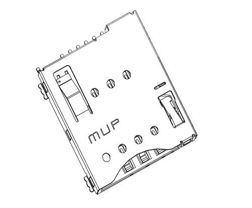 Micro SIM Card Connector MUP-C792 6P (Push-Push Lock Type)