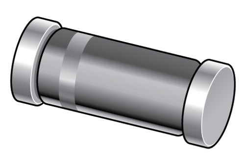 BZV55-C3V6 - 3.6V 5% 500mW Voltage Regulator Zener Single Diode SOD80C