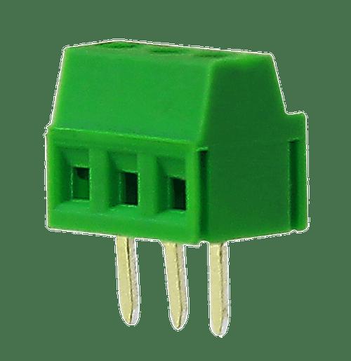 3.5mm 3-pin Screw Type PCB Terminal Block (Brass Screw)