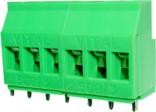 5.08mm Sealed Base 3-pin Screw Type PCB Terminal Block
