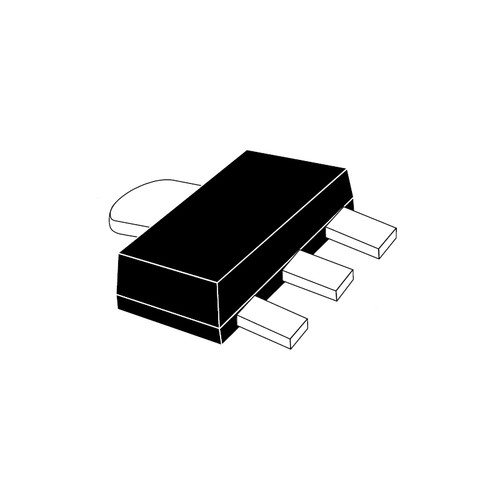 LM1117F-1.2V - 1.2V 1A Fixed Output LDO Linear Voltage Regulator 3-Pin SOT-89