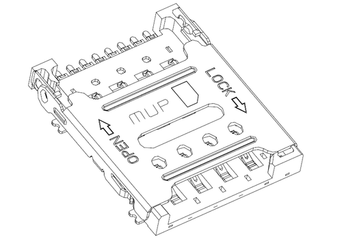 Micro SIM Card Connector MUP-C791 8P (Hinge Type)