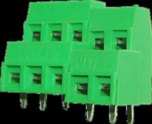 5.08mm 3-pin Double Decker Screw Type PCB Terminal Block