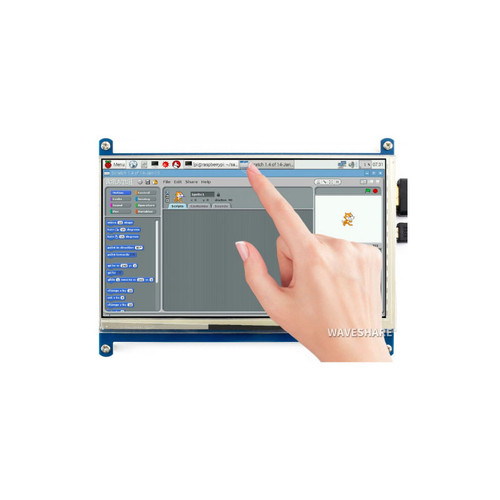 7inch Capacitive Touch Screen LCD (C), 1024×600, HDMI, IPS