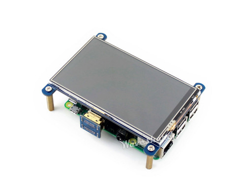4 inch Resistive Touch Screen LCD Designed for Raspberry Pi, 800×480 resolution - Waveshare