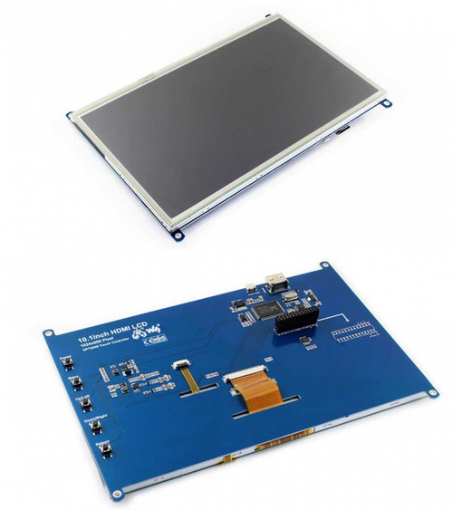 10.1inch Resistive Touch Screen LCD, 1024×600 resolution, Designed for Raspberry Pi - Waveshare