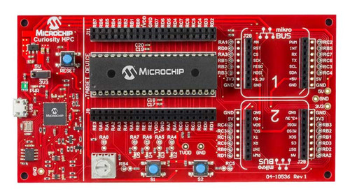 DM164136: MICROCHIP Curiosity High Pin Count (HPC) Development Board supported 28Pin & 40Pin 8-Bit PIC MCUs
